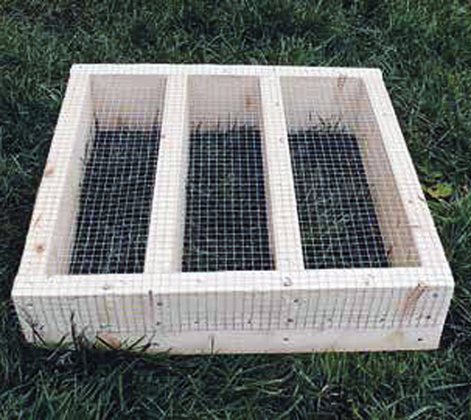 Top View of Chicken Water Stand