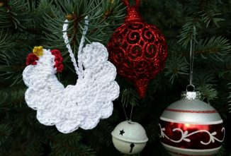 Make Your Own Flock with Rooster and Hen Crochet Ornaments