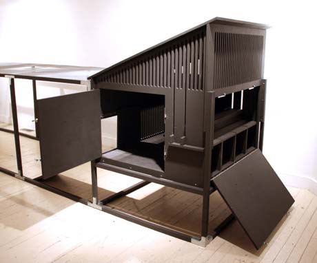 Troutman's first coop was on display at the Boulder Museum of Contemporary Art in Boulder, Colorado. The coop received a lot of interest, and led to the formation of Colorado Chicken Coops.