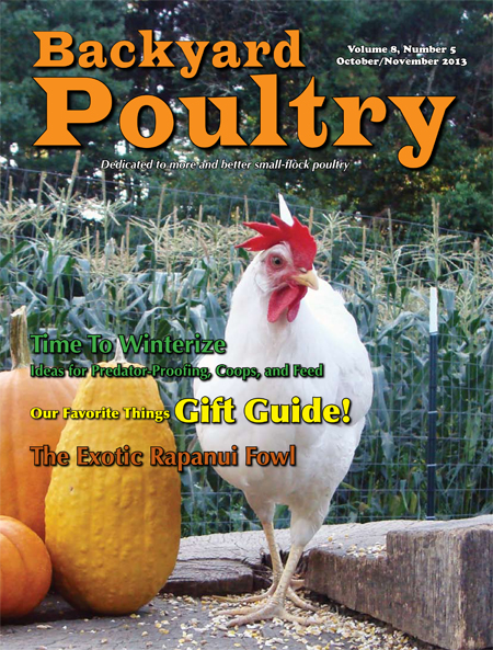 Backyard Poultry October/November 2013