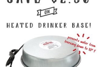 MannaPro $2.50 Off Heated Drinker Base